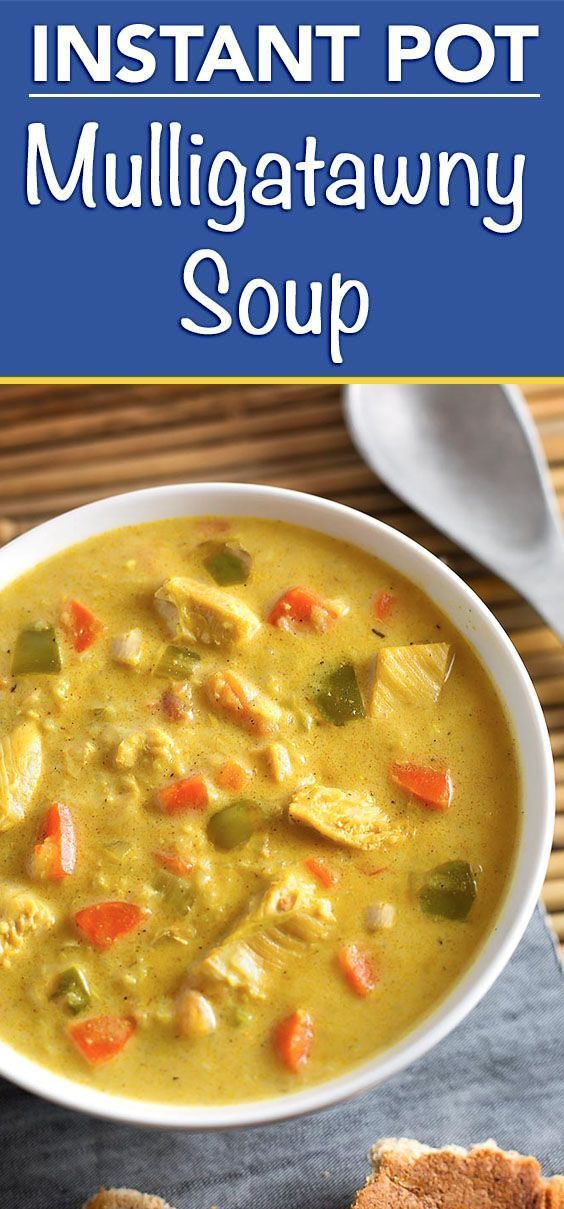 Instant Pot Mulligatawny Soup | Simply Happy Foodie