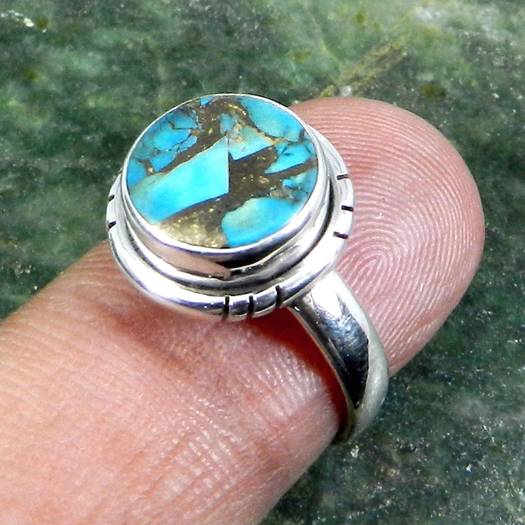 Turquoise rings silver turquoise ring,adjustable ring,gemstone ring,