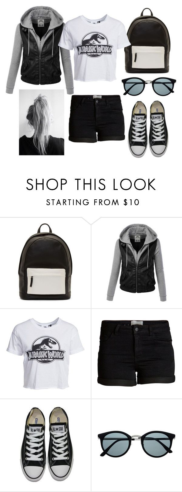 """""""5518"""" by gabiicosta ❤ liked on Polyvore featuring PB 0110, New Look, Pieces, Converse, Retrò, women's clothing, women, female, woman and misses"""