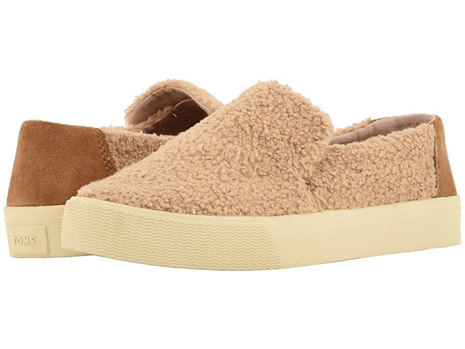 TOMS Sunset Light Brown Faux ShearlingSuede Womens Slip on Shoes With every pair of shoes you purchase TOMS will give a new pair of shoes to a child in need One for One T...