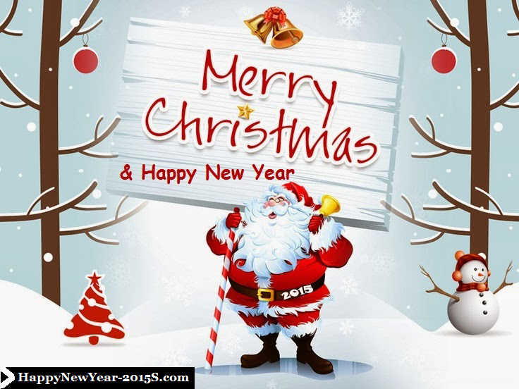merry christmas and happy new year 2015 png image
