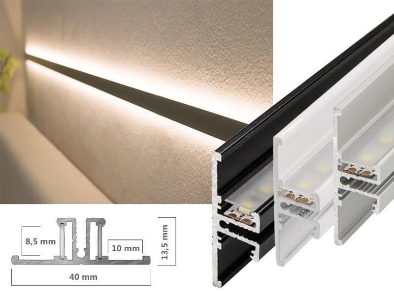 LED Lichtvouten-Profil T mit beiseitigem Lichtaustritt, 7,00 €