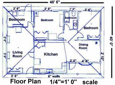 Floorplan Example House Blueprints Electrical Layout Building Design