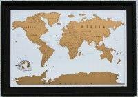 Mapa enmarcado negroEste entretenido mapa lo puedes raspar con una moneda los lugares que conoces!