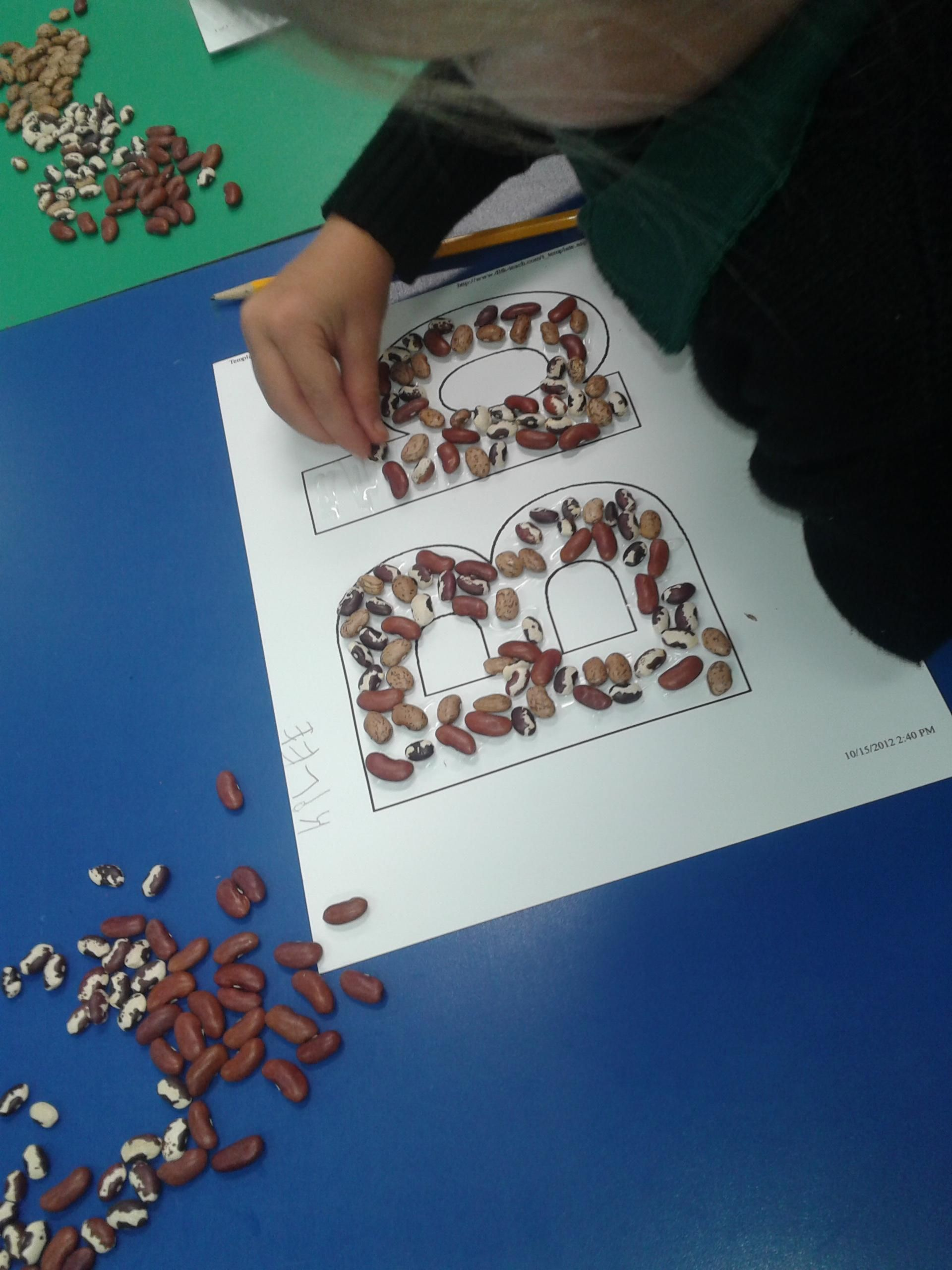 B Is For Beans Sensory Activity For Letter B