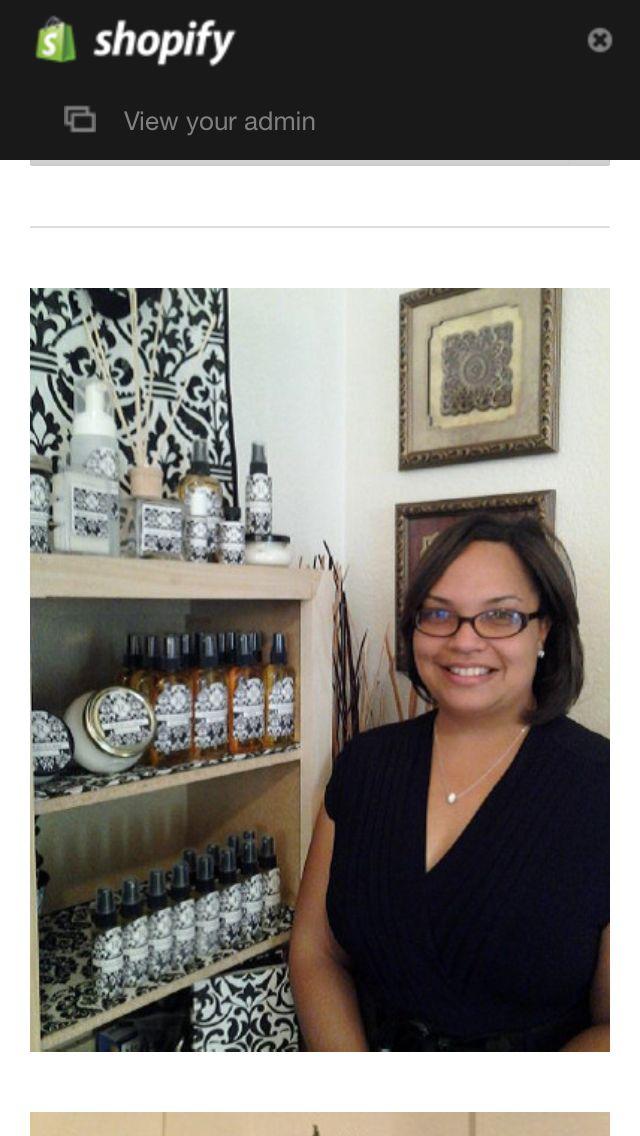 Founder of The Original Scent Shoppe, Richelle Scruggs