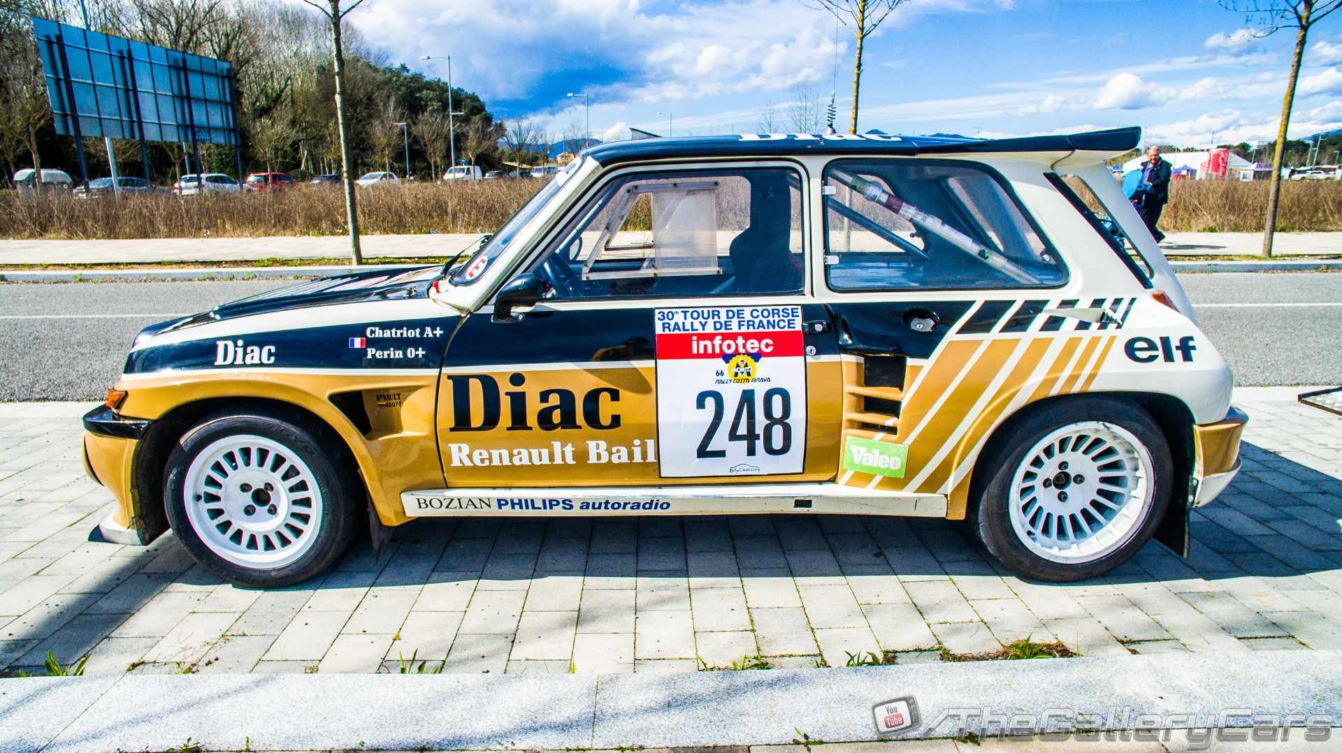 1985 renault 5 maxi turbo diac tour de corse group b rally car of neil brighton and peter. Black Bedroom Furniture Sets. Home Design Ideas