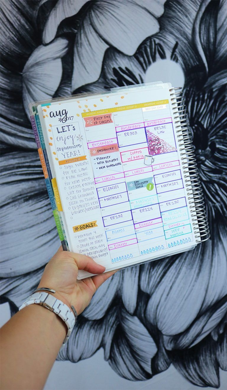how to organize your student planner online course ideas