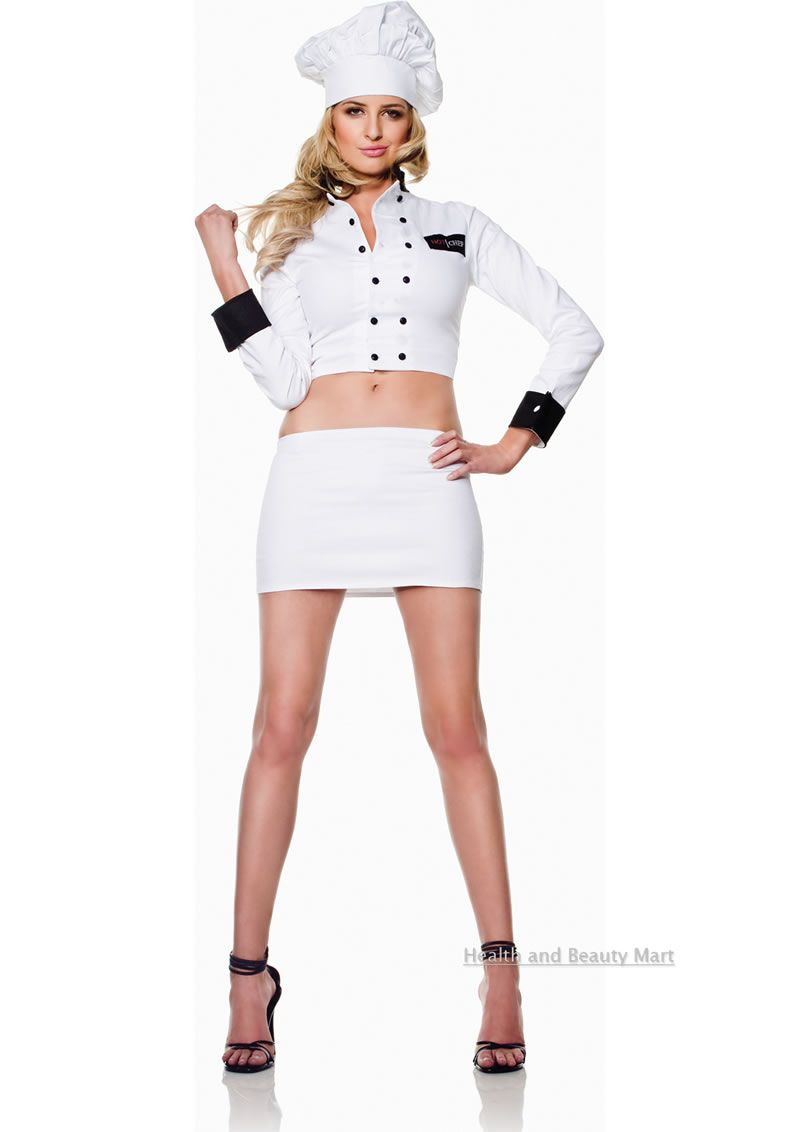 Be the most sizzling thing in the kitchen with this hot chef costume ...