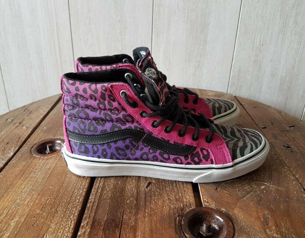 chaussure léopard femme vans rose