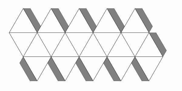 正20面体 展開図 のりしろ付