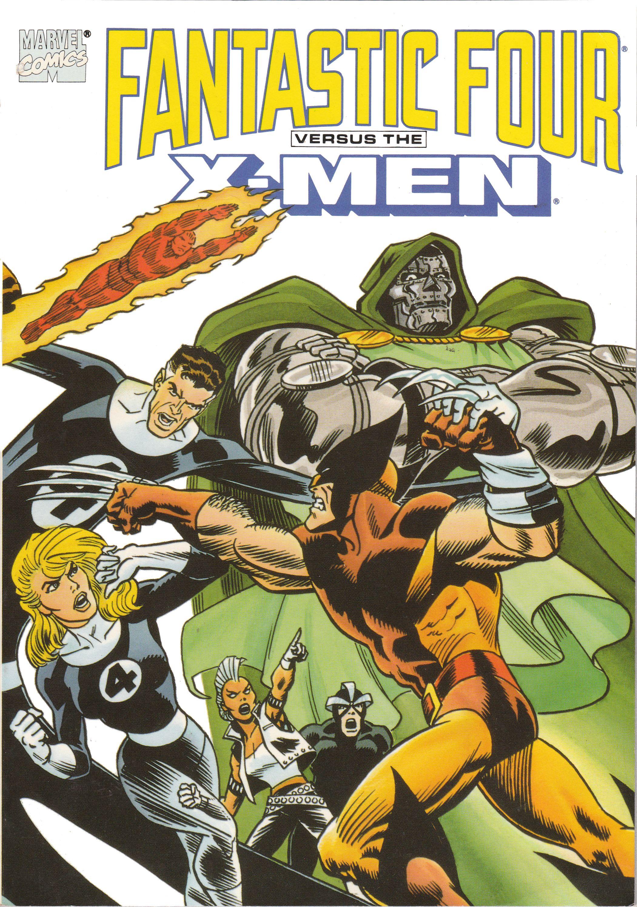 Fantastic Four Vs X Men Trade Cover1 Marvel Comics Covers X Men Marvel Comic Books