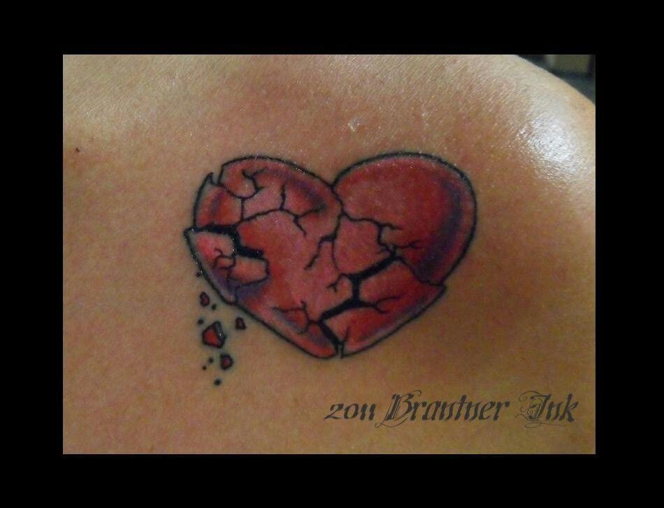 Broken Heart Tattoo Tattoos Pinterest Broken Heart Tattoo