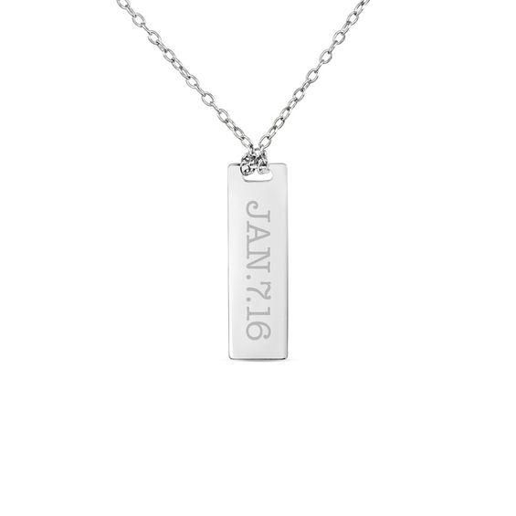 Zales Linear Bar and Ball Pendant in Sterling Silver H0CP2vy0S