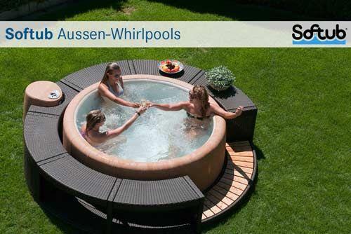 bildergebnis f r aussenwhirlpool rund hot tub pinterest runde zu hause und g rten. Black Bedroom Furniture Sets. Home Design Ideas