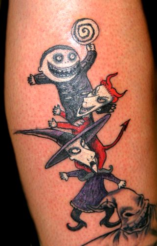 Tim Burton, The Nightmare Before Christmas inspired Tattoo.