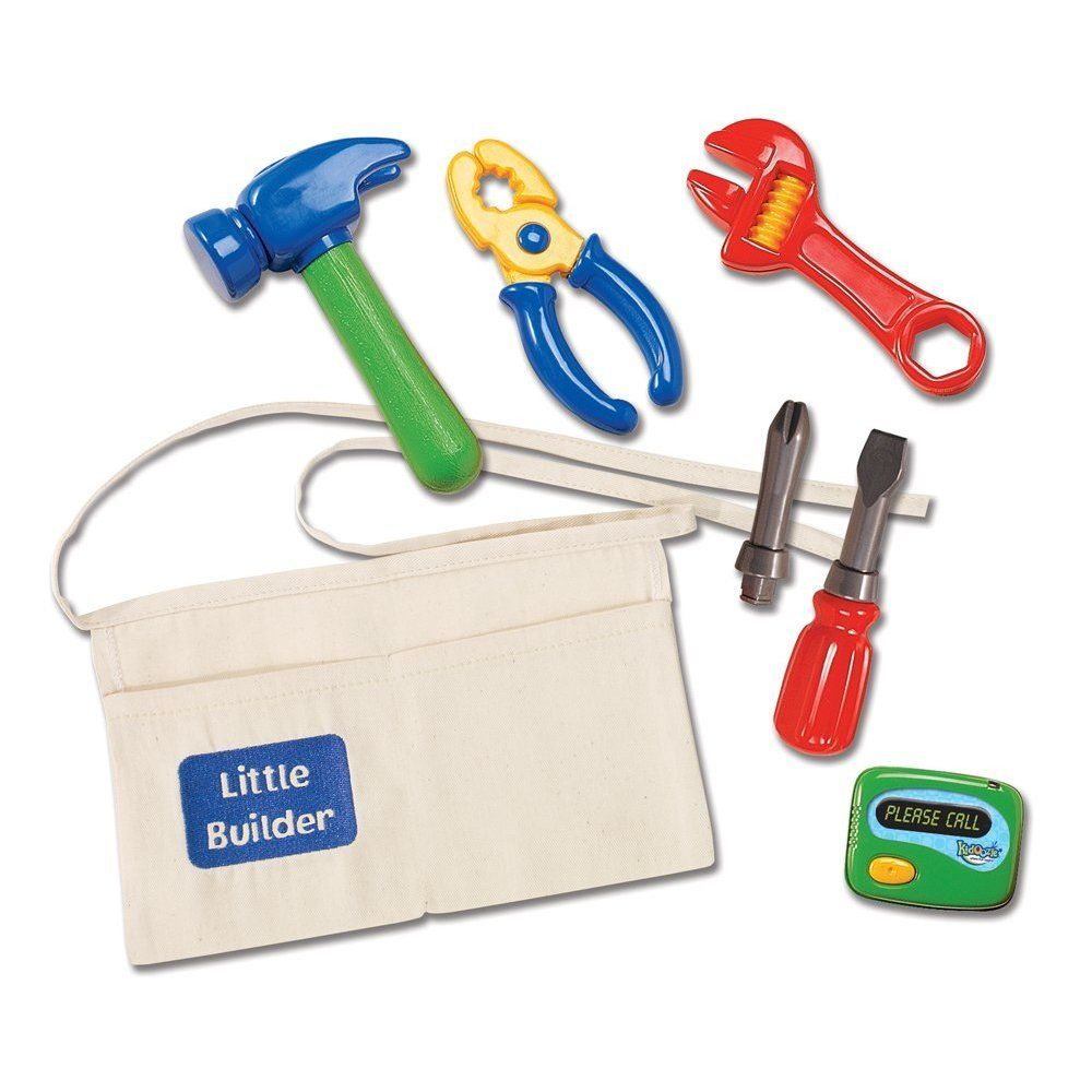 Kidoozie Little Builder Tool Belt: Your little one can (pretend) fix everything around the house with this tool belt play set ($17) that includes a hammer, wrench, and screwdriver. Comes in a sturdy canvas tool belt that ties.