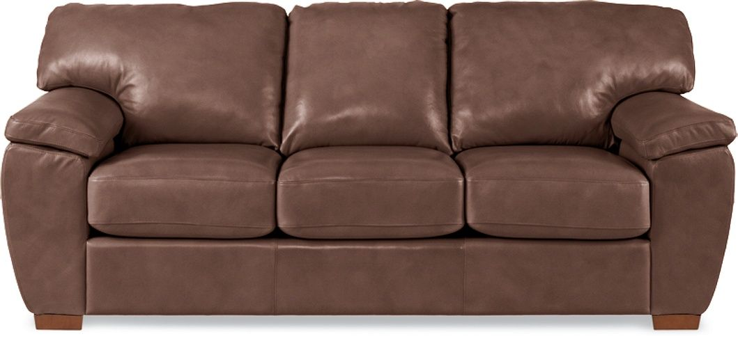 La-Z-Boy — Zack Sofa — covered in Leather, cover color Saddle (GL827778) [pillow cover color N/A]