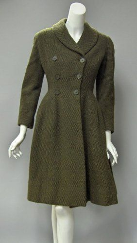 A Vintage 1950s Hardy Amies Green and Black Wool Suit