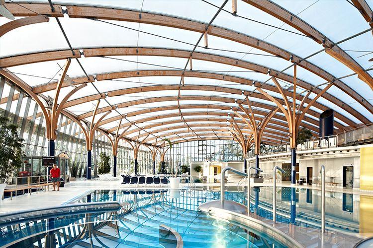 Prienavera Adventure Pool Prien Swimming Pool Architecture Shade Structure Membrane Roof