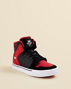 12ec0af7ba Supra Boys' Vaider Leather & Suede High Top Sneakers - Toddler, Little Kid,  Big Kid