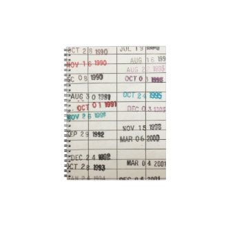 Vintage Library Due Date Cards Journals