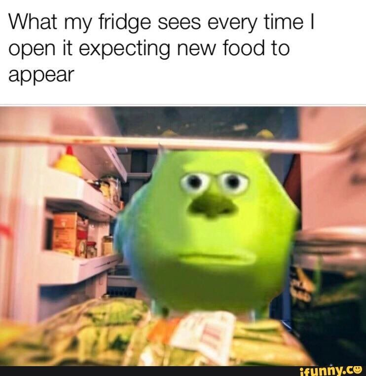 What My Fridge Sees Every Time I Open It Expecting New Food To Appear Ifunny Really Funny Memes Crazy Funny Memes Stupid Memes