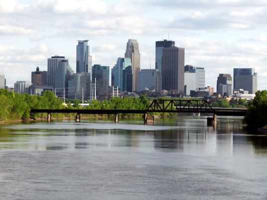 Minneapolis, MN - view from the Mississippi River