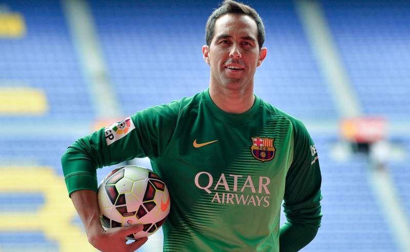 Chileno Claudio Bravo, presentado en el Barcelona