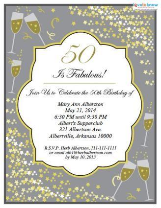 50th birthday invitations wording ideas