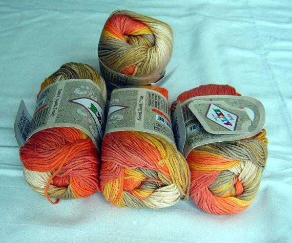Alize Bella Batik Designed Yarn: Pure Cotton Baby Yarn