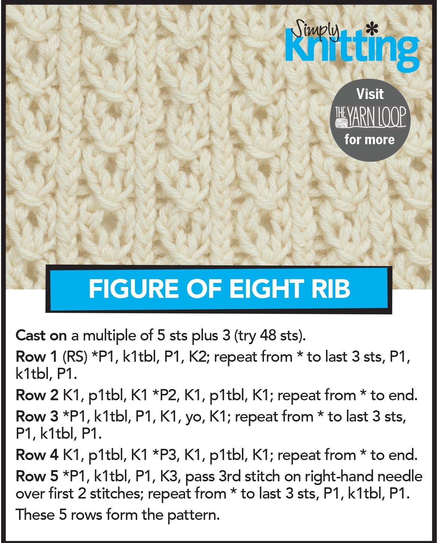 Figure of Eight Rib Stitch | 01 Knitting/Crochet | Pinterest ...