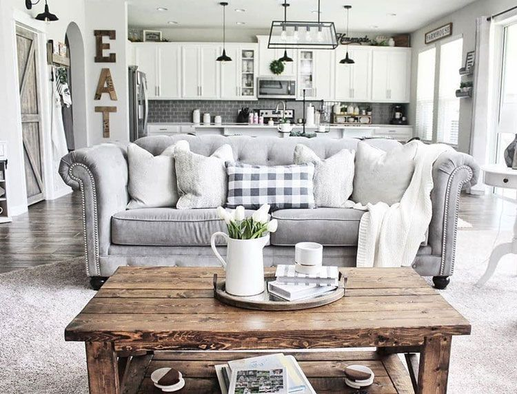 Home Ideas Review In 2020 Farm House Living Room Rustic Farmhouse Living Room Trendy Living Rooms