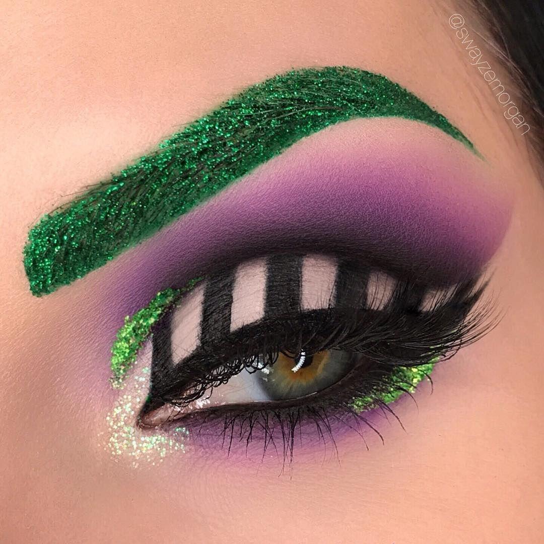 Halloween Inspired Eye Makeup.Beetlejuice Inspired Eye Makeup Halloween Makeup Inspiration Beetlejuice Makeup Holloween Makeup