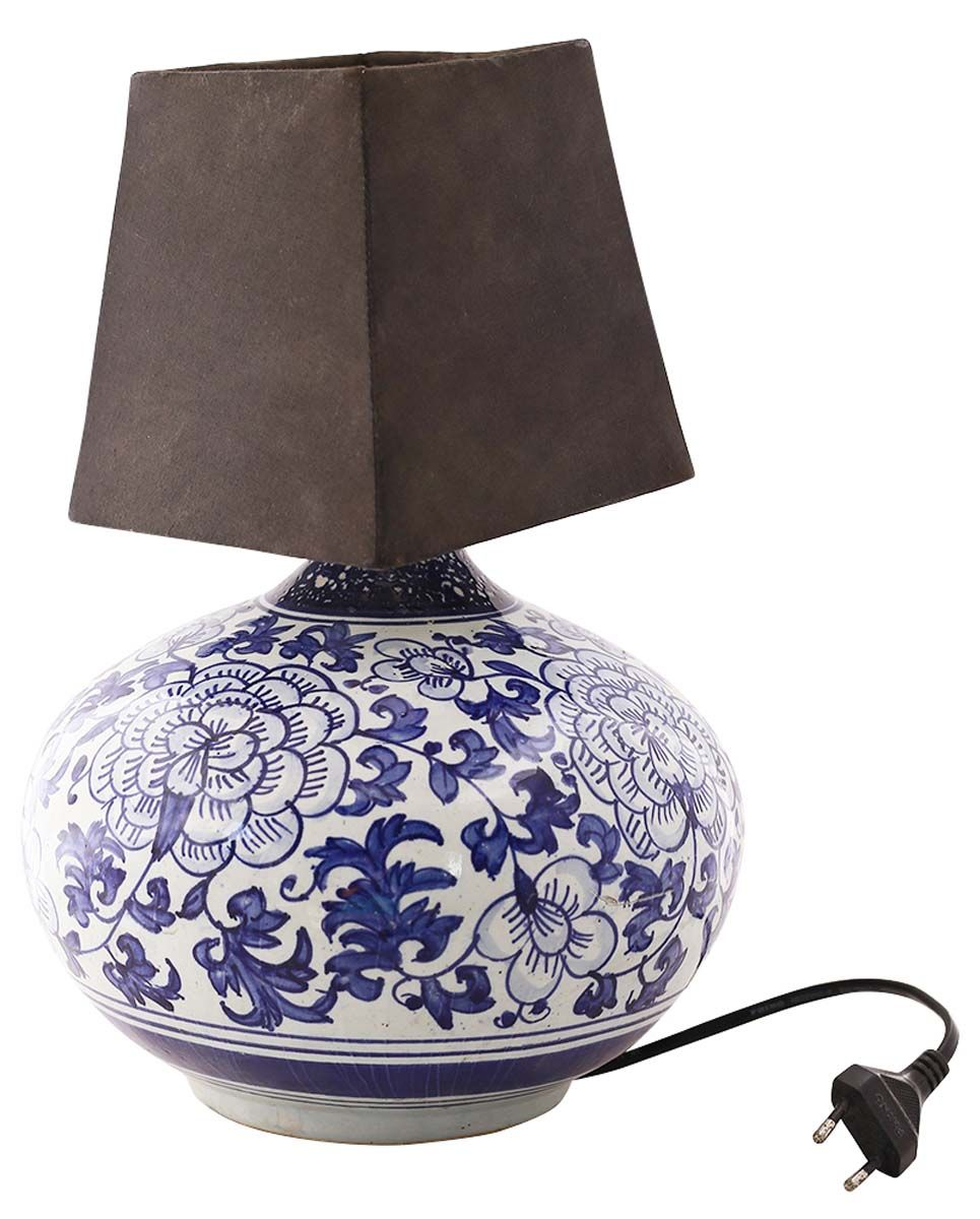 Bulk Wholesale Oriental Ceramic Table Lamp With Black Shade Hand Painted Blue White Lighting Home Decor Ceramic Table Lamps Lamp Shades Of Black