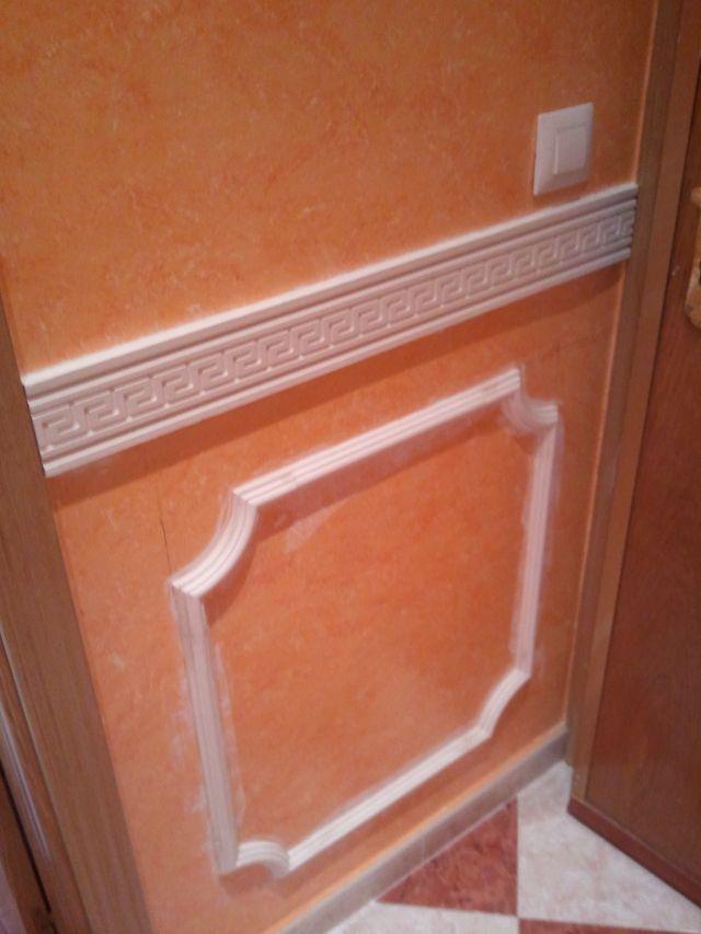Colocar molduras techo poliuretano gallery of pinturas el as inicio proyectos realizados galer - Colocar moldura escayola ...