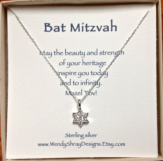 Bat Mitzvah gift Sterling silver and CZ Star by WendyShrayDesigns, $36.00