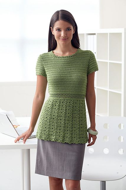 Ravelry Crochet Cap Sleeve Top Pattern By Patons Crafts