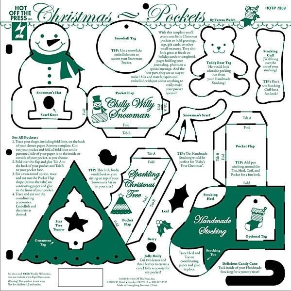 Dinglefoot's Scrapbooking - Christmas Pockets Template ~ Hot Off the Press, $5.99 (http://www.dinglefoot.com/christmas-pockets-template-hot-off-the-press/)