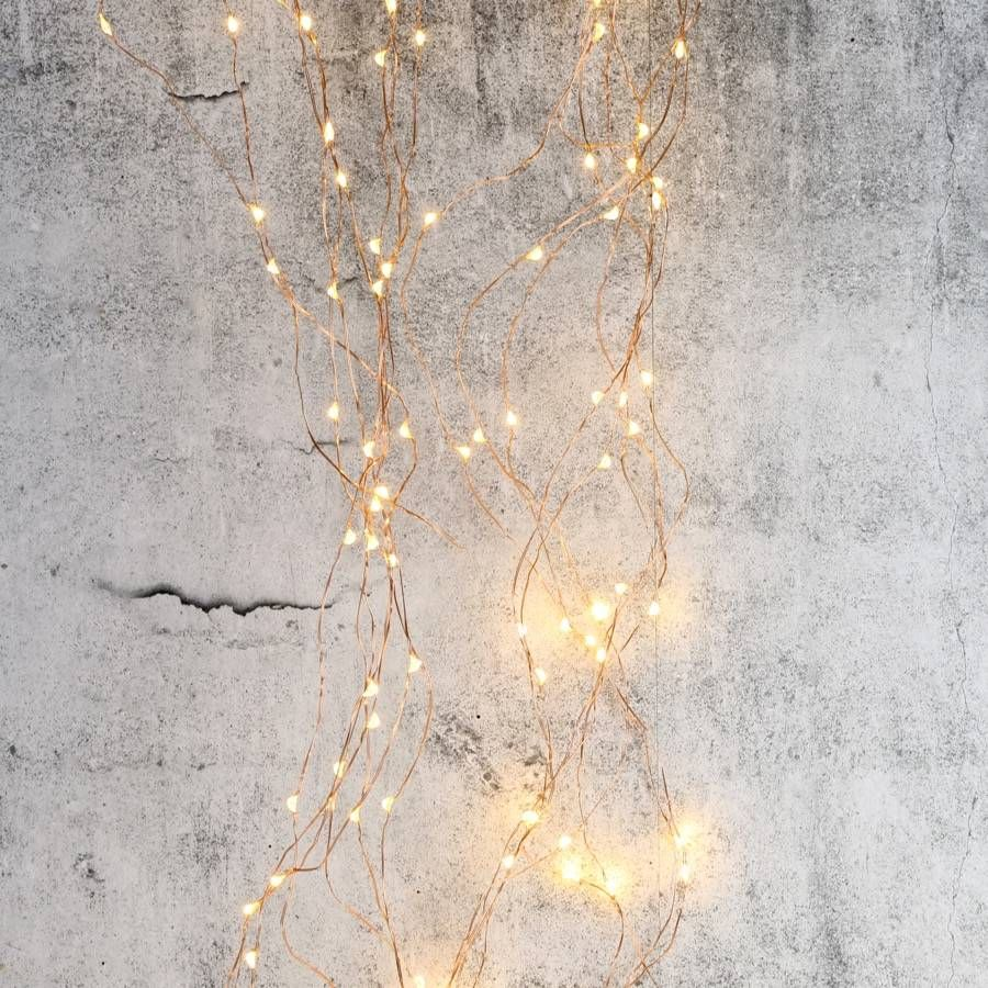 Copper Wire Waterfall String Lights 320 LED | Copper wire and Lights