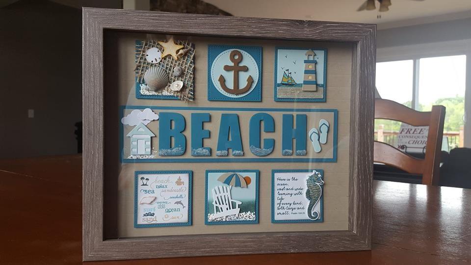 My Beach Themed Shadow Box Designs 40 Box Frame Art Shadow Box Frames Beach Shadow Boxes