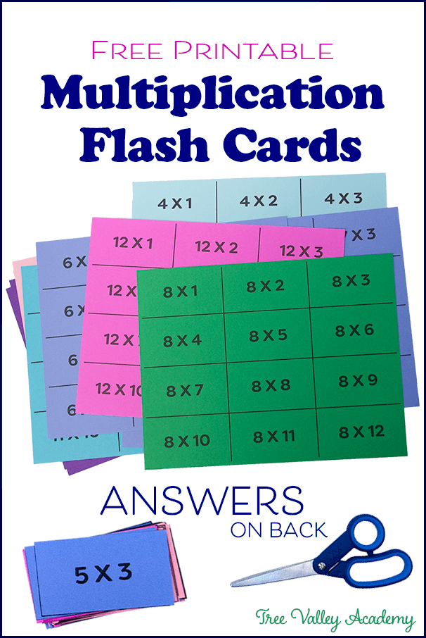 Printable Multiplication Flashcards 0 12 With Answers In 2020 Multiplication Flashcards Flashcards Printable Flash Cards