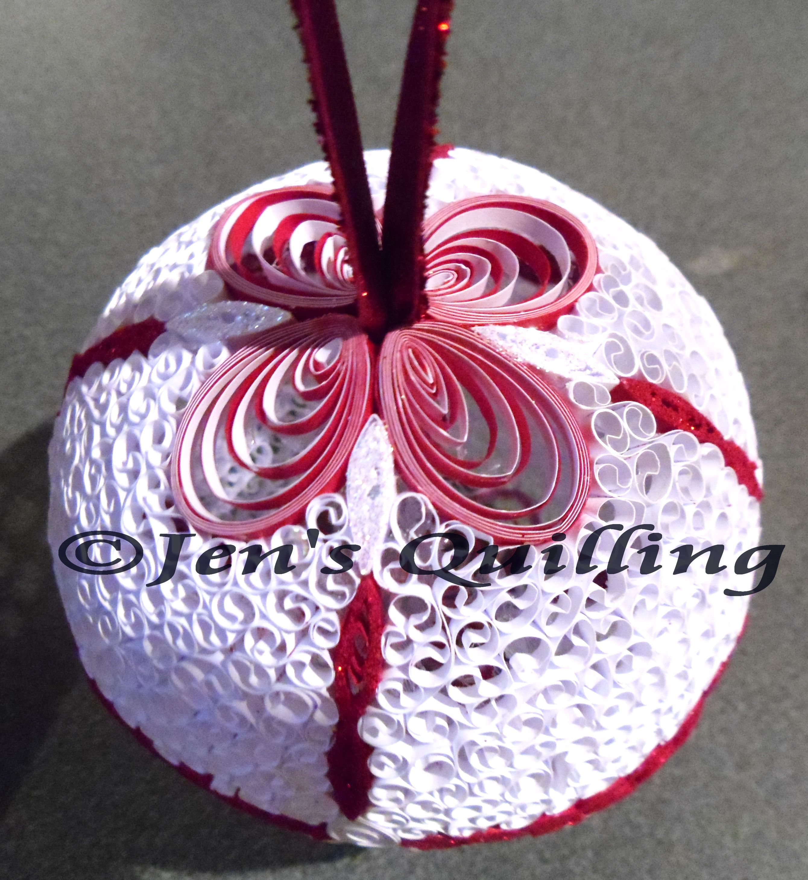 Quilling Boule De Noel Christmas Bauble Christmas Quilling Quilling