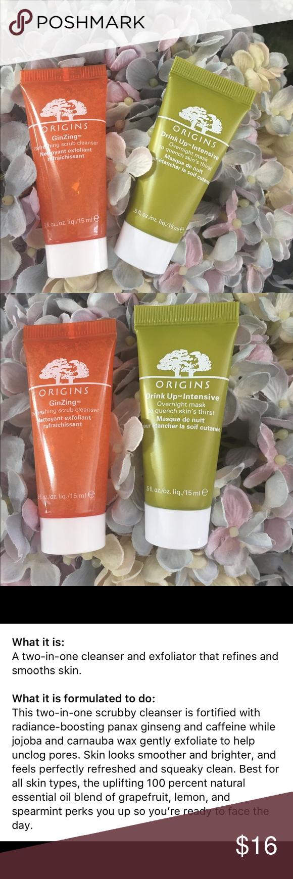 Origins Travel Duo Nwt Bright Skin Overnight Mask Skin Bleaching Cream
