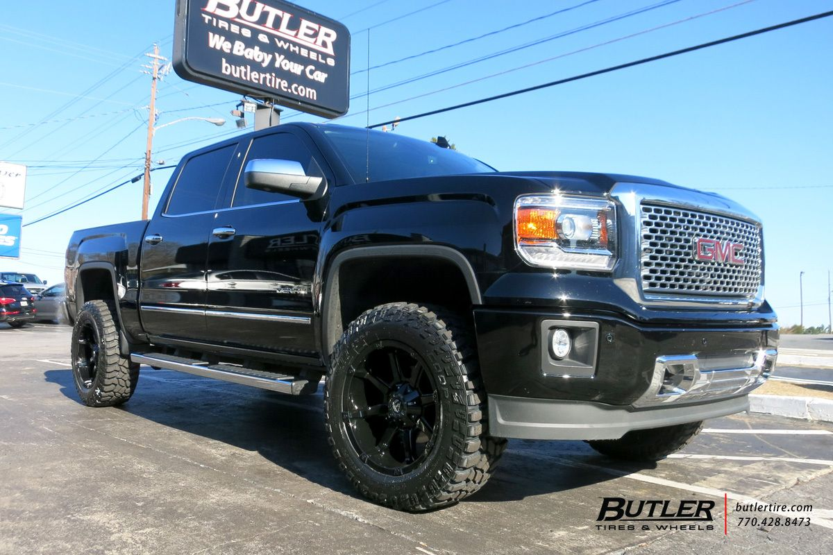 Gmc Sierra Denali With 20in Fuel Coupler Wheels Sierra Denali Gmc Sierra Denali Gmc Sierra