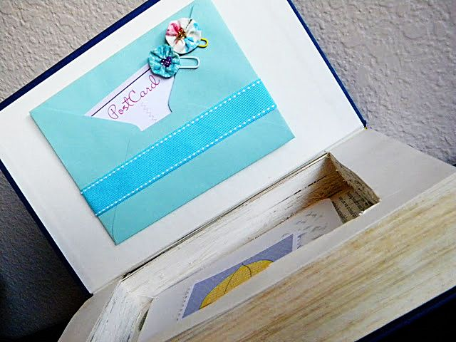 A Gorgeous Book Box Crafts Books Crafts Ideas