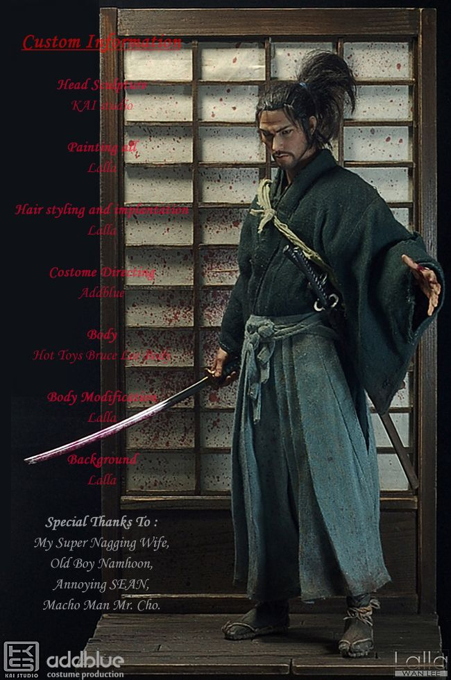 1:6 Takehiko Inoue's Vagabond by Lalla. Wonderful custom work. Trabalho de customização maravilhoso, 12'