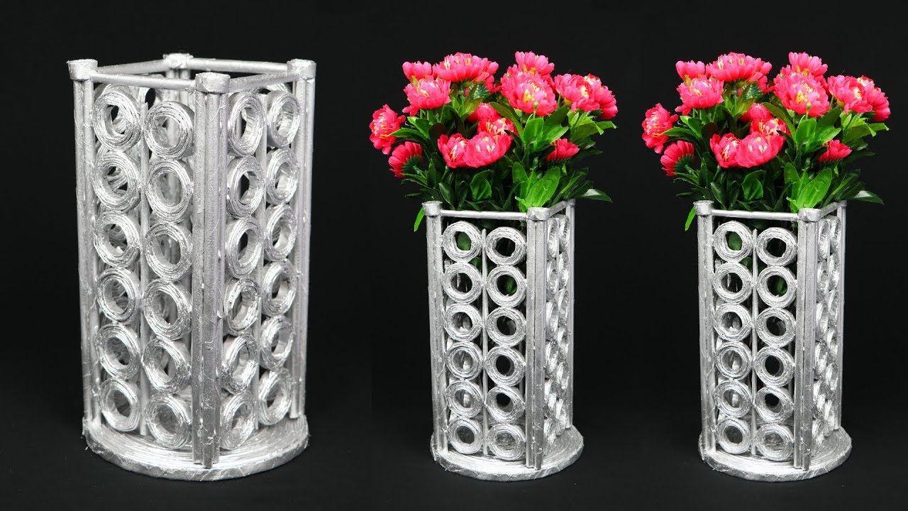 Newspaper Flower Vase Flower Vase Making Home Decoration