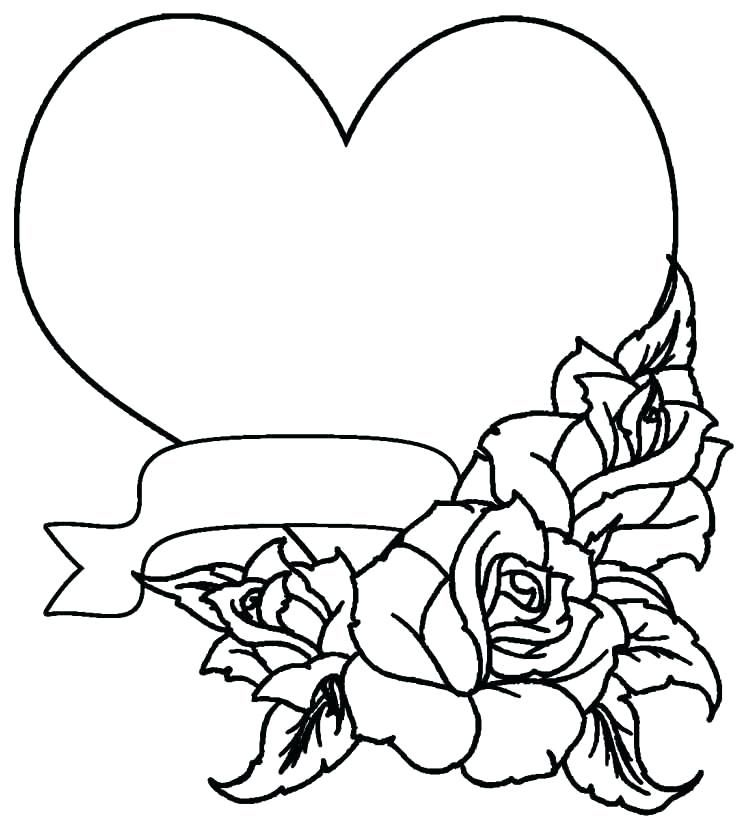 Hearts Coloring Pages For Adults With Images Heart Coloring Pages Skull Coloring Pages Rose Coloring Pages