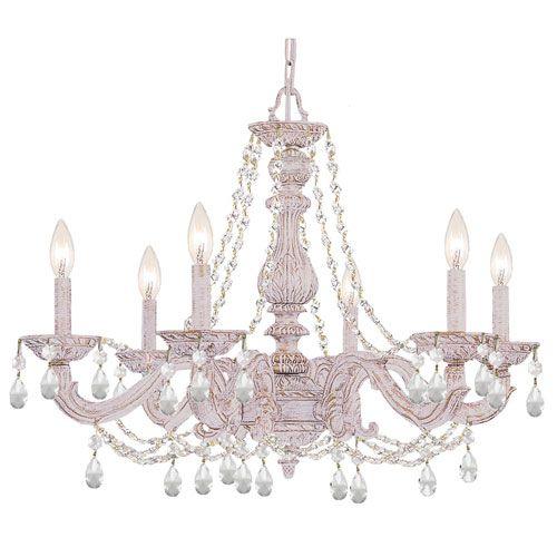 Crystorama lighting group hampton antique white ornate chandelier crystorama hampton antique white ornate chandelier draped with clear hand cut crystal aloadofball Gallery